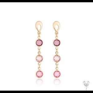 Swarovski earrings crystals rose gold plat…